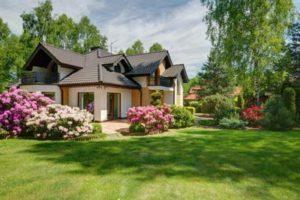 elegant home with elegant garden