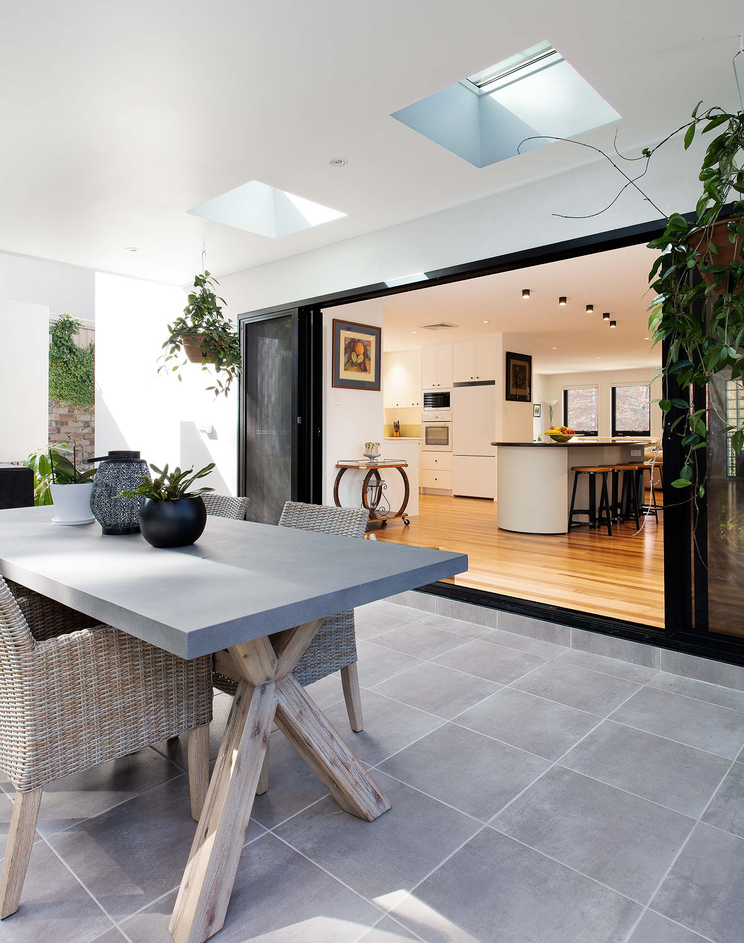 Beecroft Home Extension and Renovation entertainment area outside