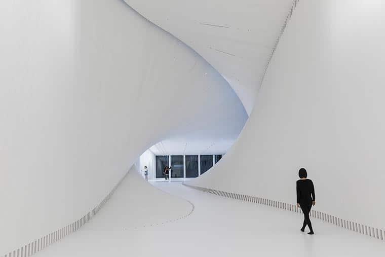The Twist Museum white art gallery interior