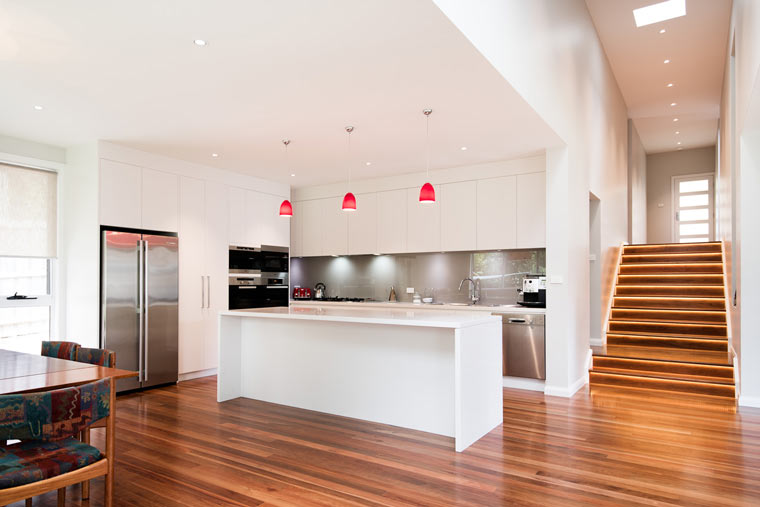 Updated, modern kitchen in a renovated home